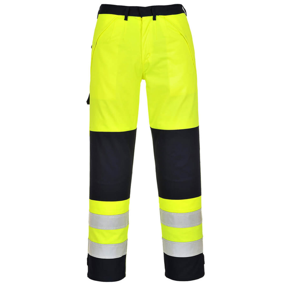 Pantalón de alta visibilidad Multi-Norm  Amarillo/Marino