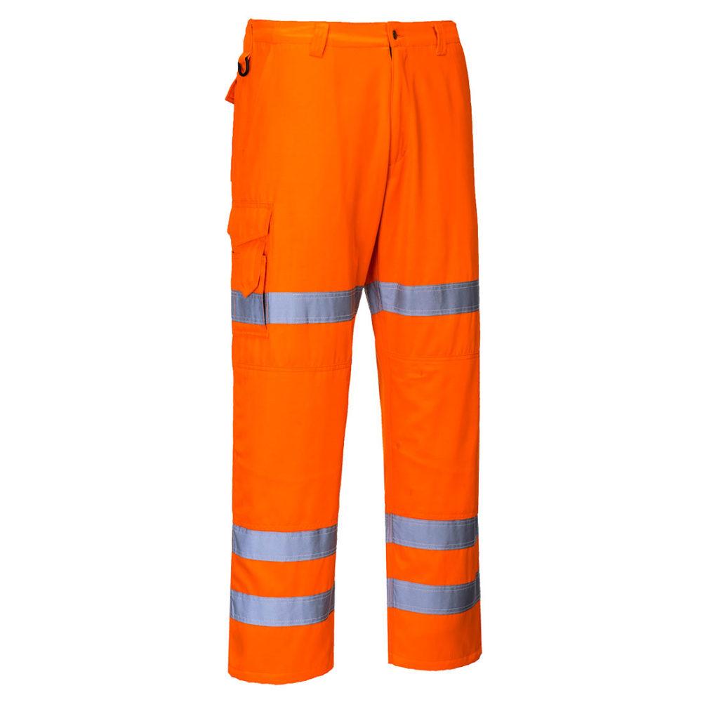 Pantalones Combat de alta-visibilidad con tres bandas  Naranja