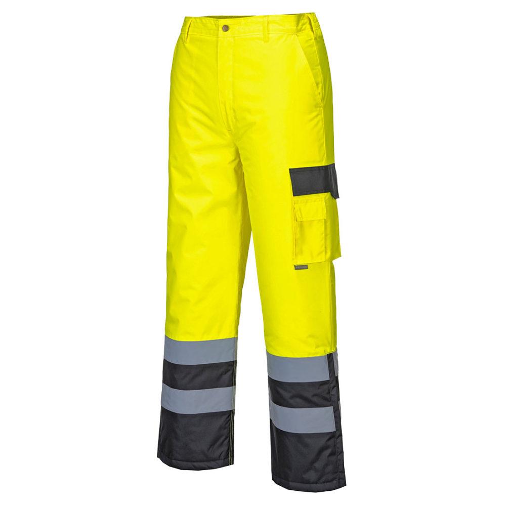 S686 – Pantalón bicolor de alta visibilidad forrado