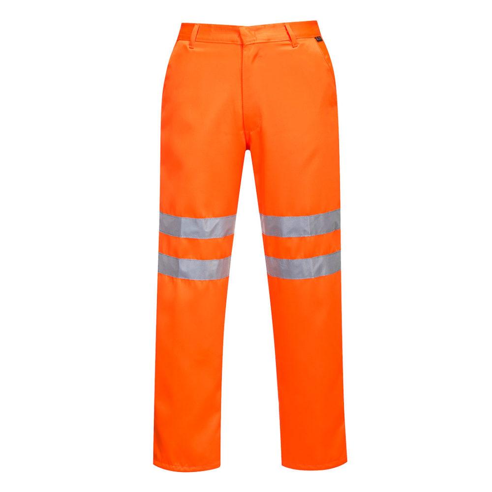 Pantalones de polialgodón de alta visibilidad RIS  Naranja