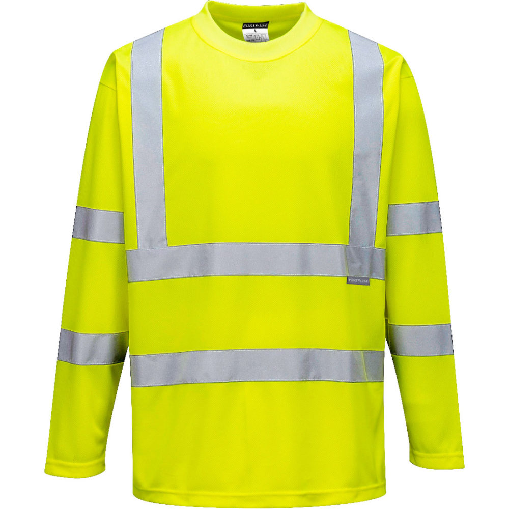 Camiseta de manga larga de alta visibilidad