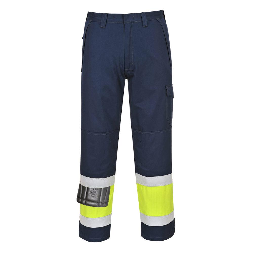 Pantalón de alta visibilidad Modaflame  Amarillo/Marino