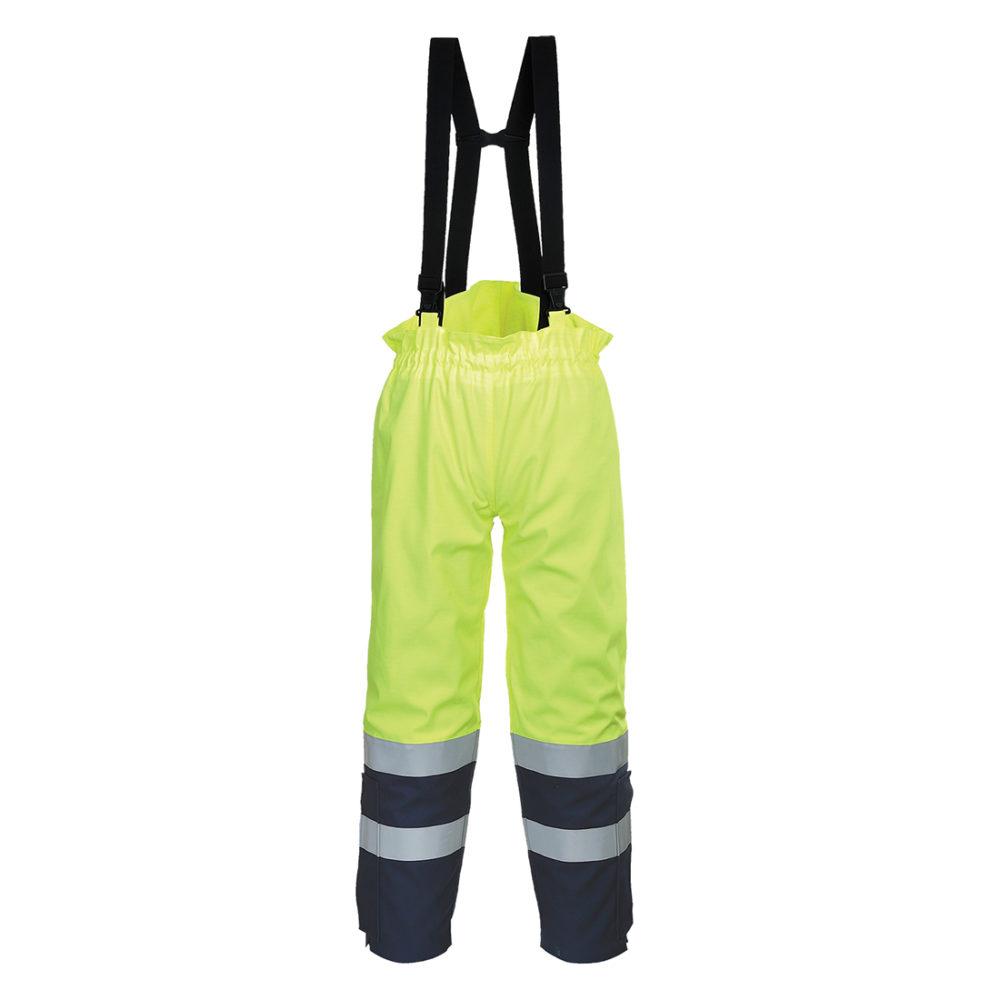Pantalón alta visibilidad Bizflame Multi Arc  Amarillo/Marino