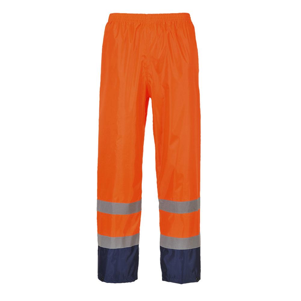 H444. Pantalón para lluvia de alta visibilidad Classic Contrast