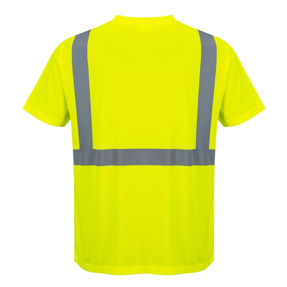 Camiseta de alta visibilidad con bolsillo
