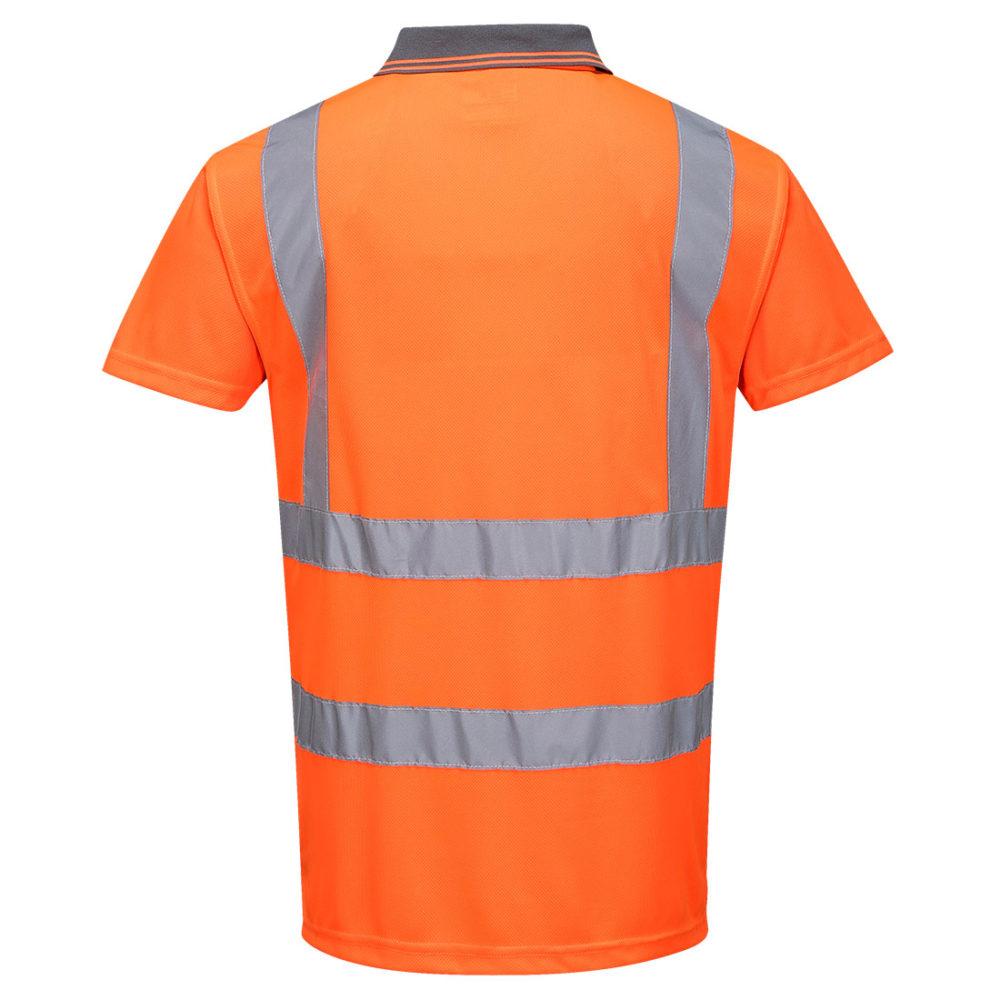 Polo de manga corta de alta visibilidad RIS  Naranja
