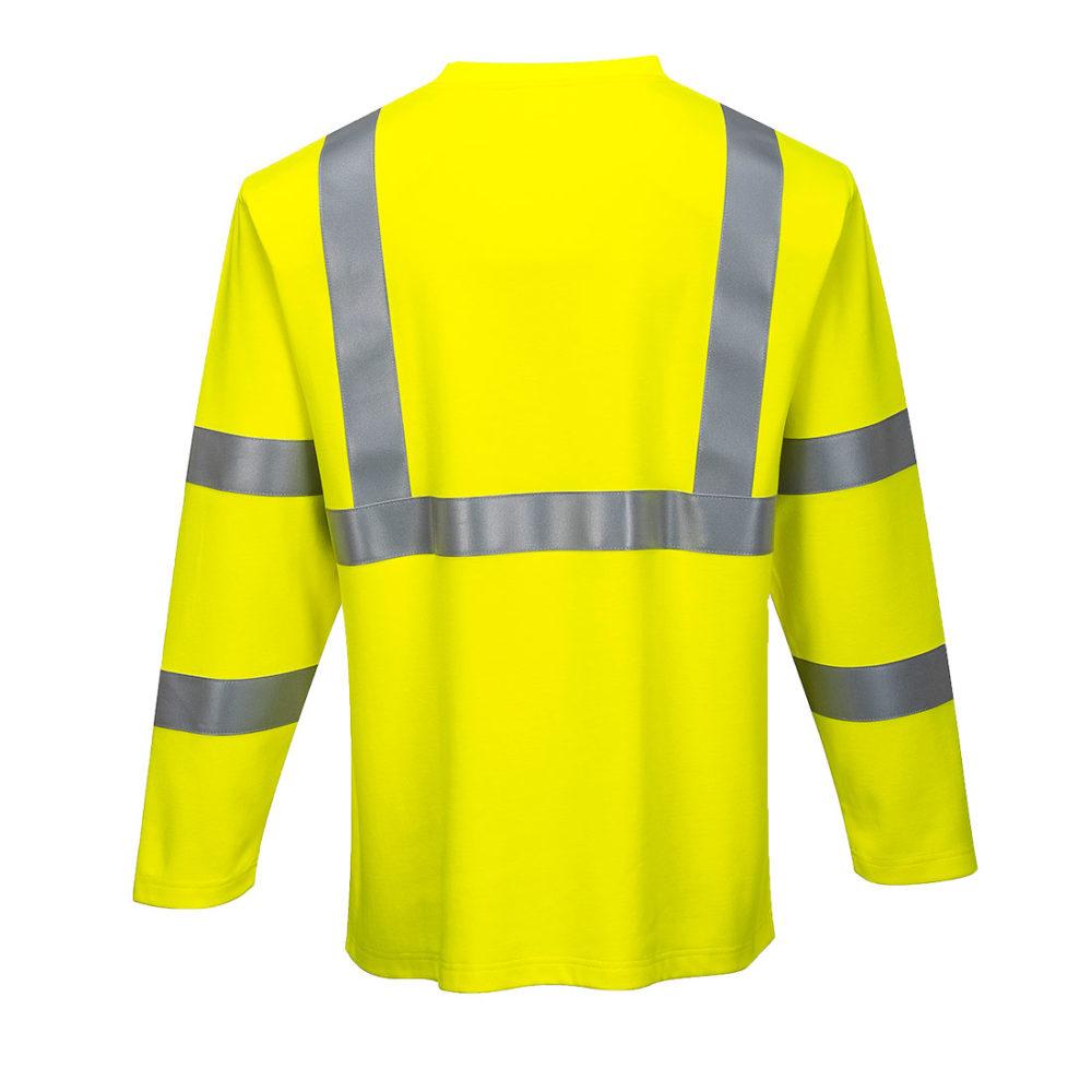 Camiseta de manga larga resistente a la llama y de alta visibilidad  Amarillo