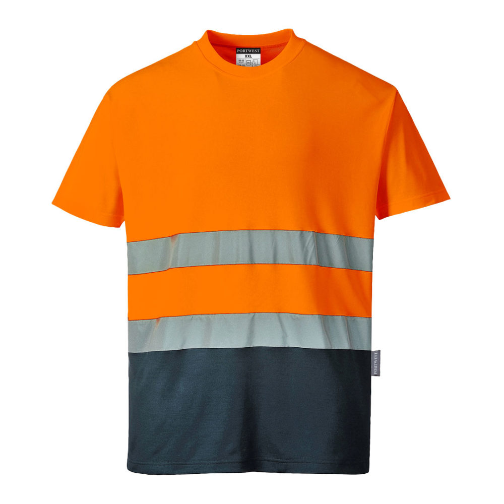 Camiseta bicolor Cotton Comfort