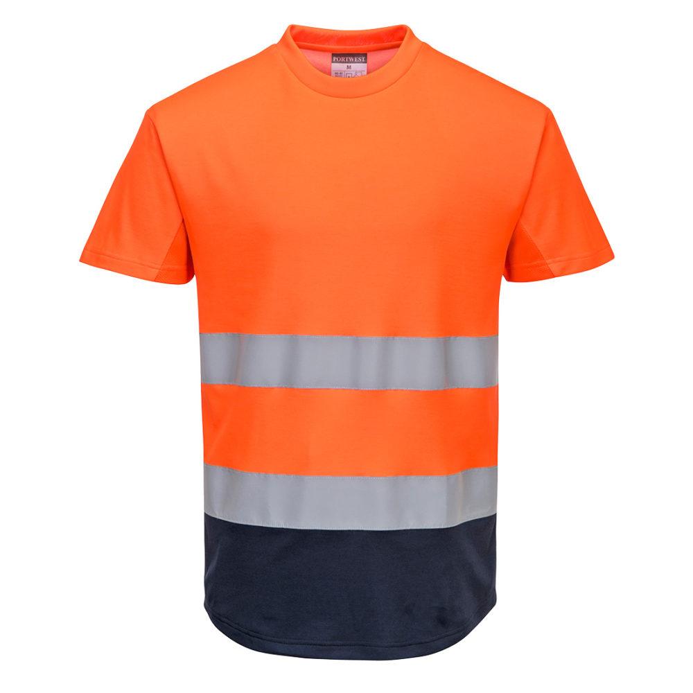 Camiseta Bicolor de Malla Alta Visibilidad