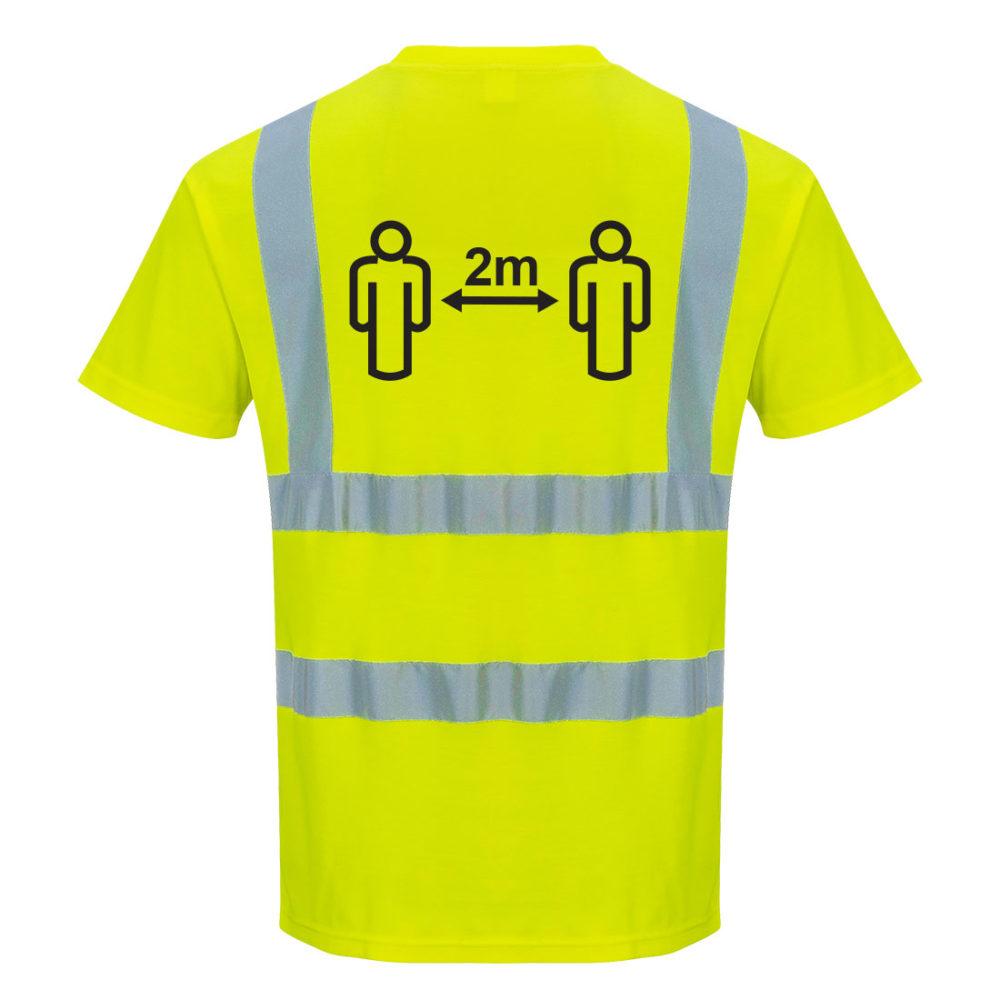 Camiseta Alta Visibilidad para Distancia Social