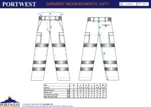 LW71 300x212 - LW71 Pantalones de alta visibilidad para mujer
