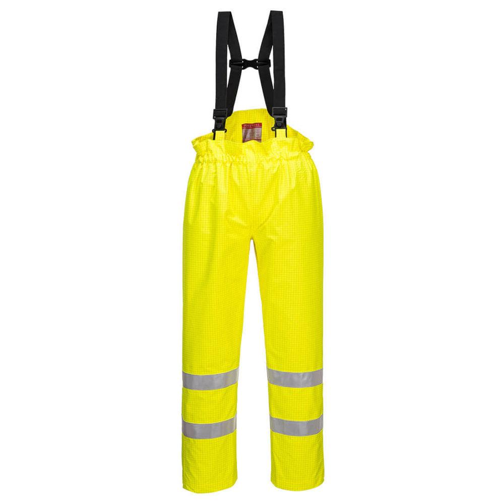 S780. Pantalón de alta visibilidad, ignífugo y antiestático Bizflame Rain sin forro