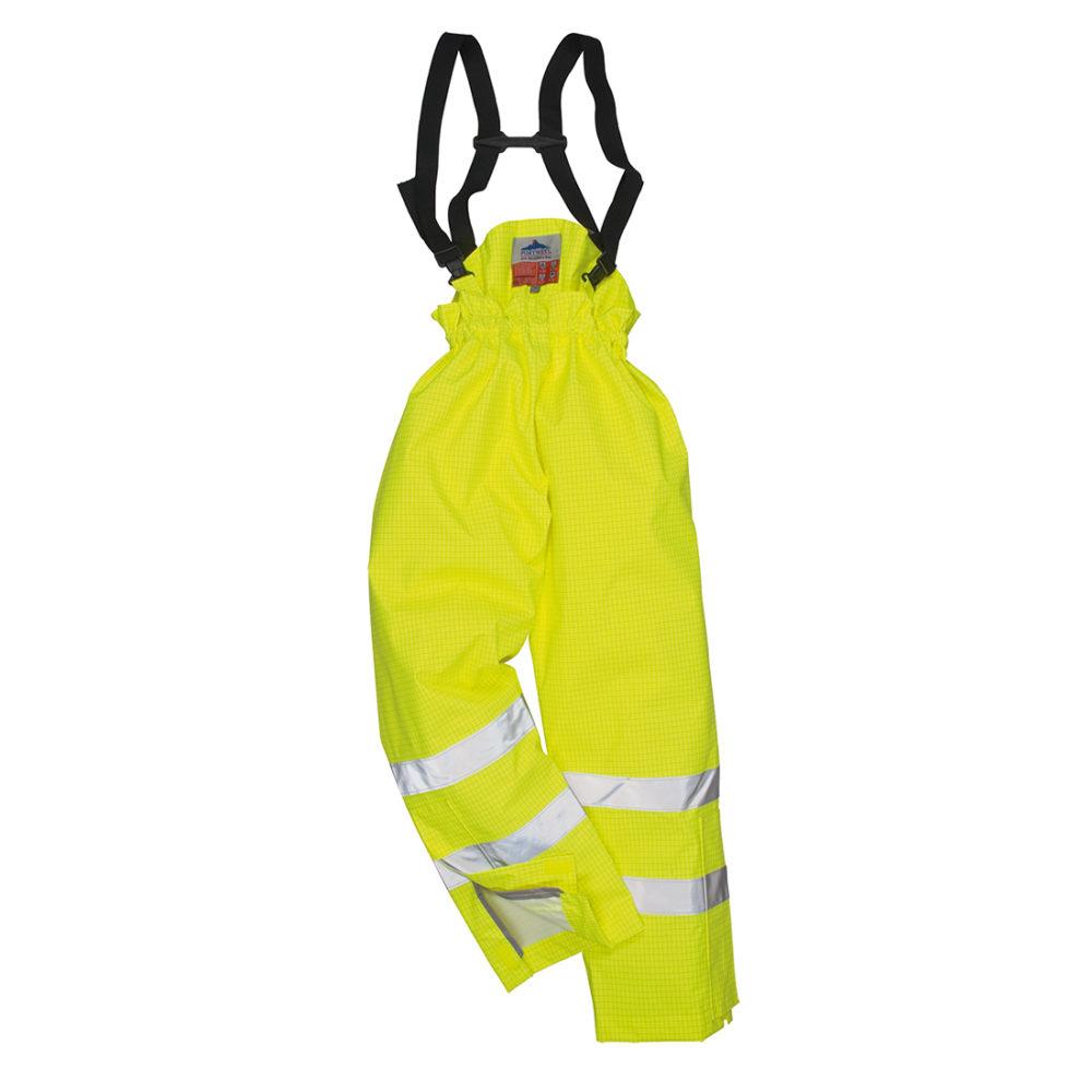 S781. Pantalón de alta visibilidad, ignífugo y antiestático Bizflame Rain, con forro