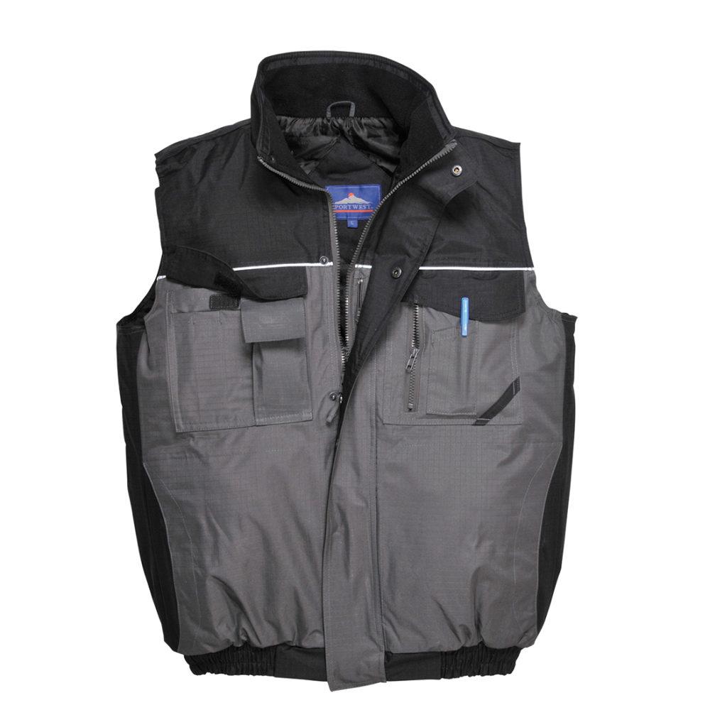 Chaleco de calor bicolor RS  Negro/Gris