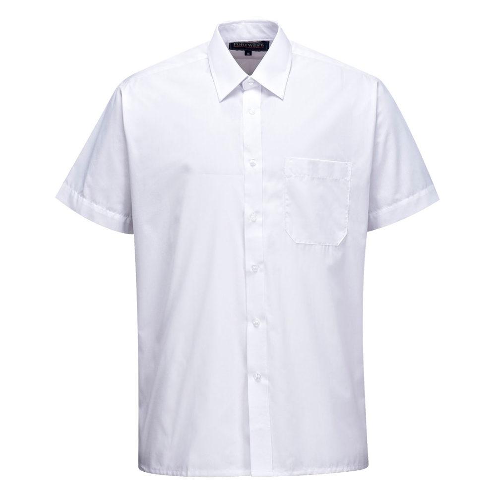 S104 – S104 Camisa Classic, manga corta  Blanco