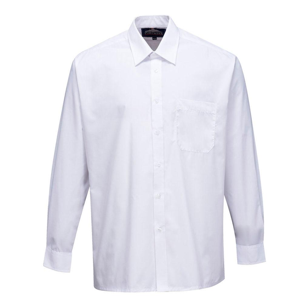 S103 – S103 Camisa Classic, manga larga  Blanco