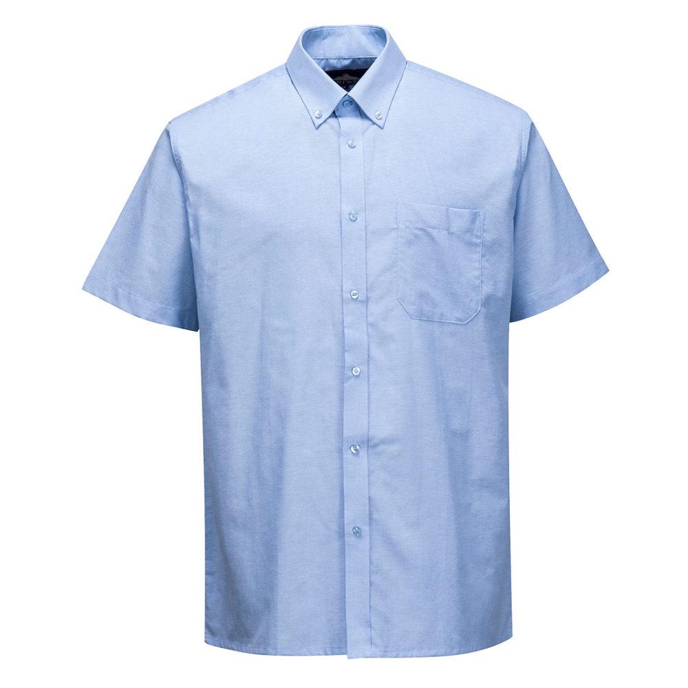 S108 – S108 Camisa Oxford, manga corta  Azul