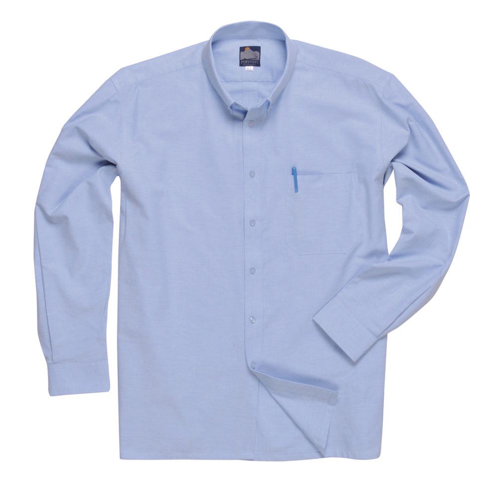 S107 – S107 Camisa Oxford, manga larga