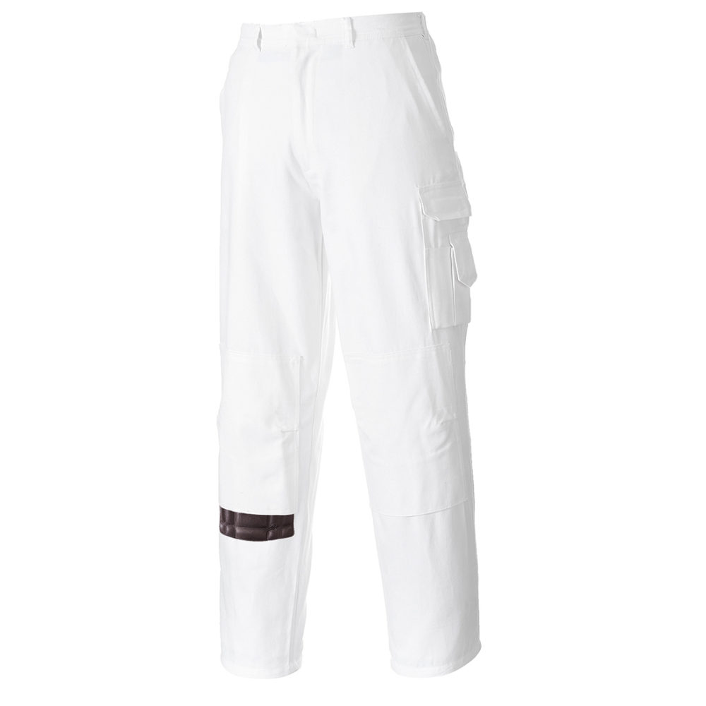 S817 – Pantalones de pintor  Blanco
