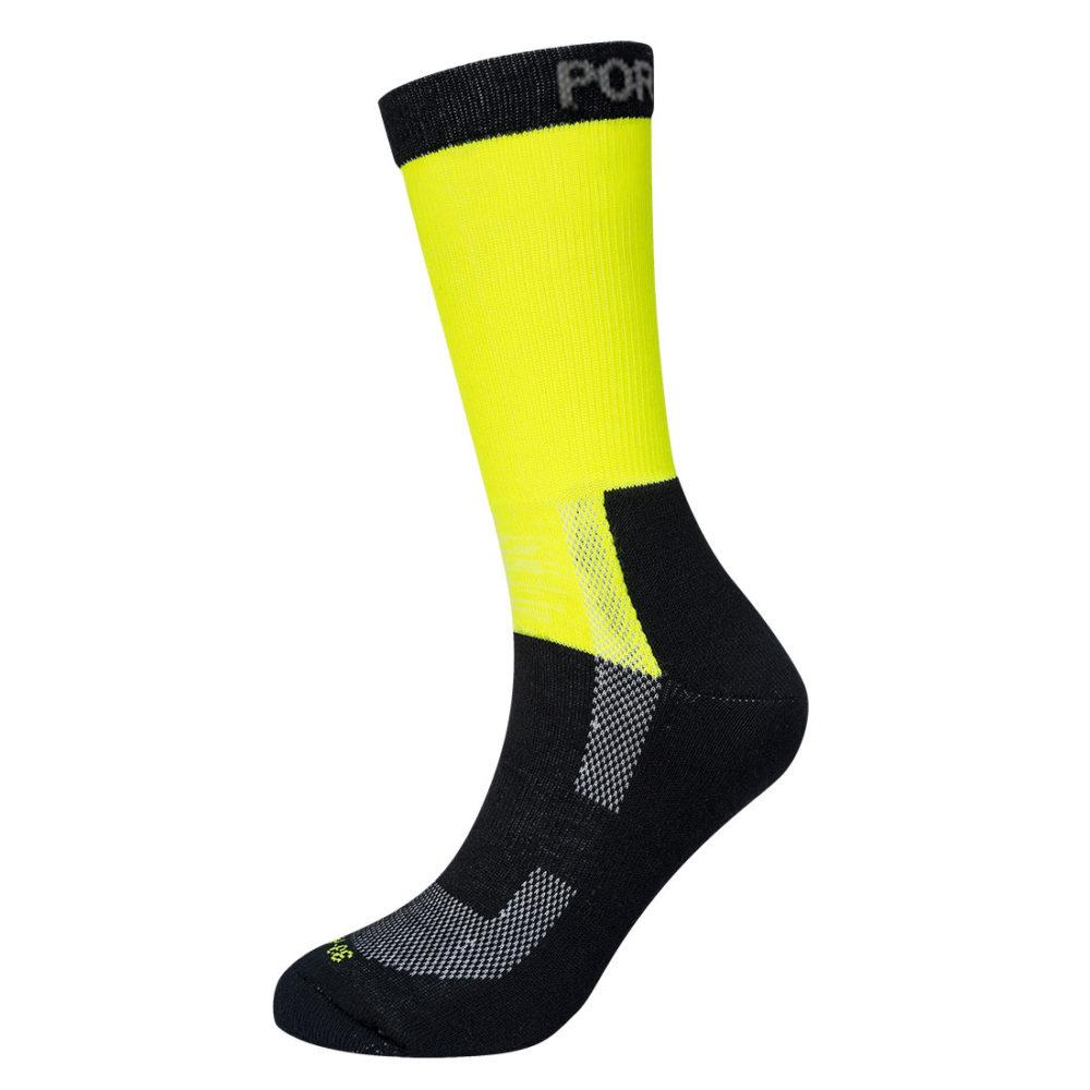 SK27 – Calcetín ligero de alta visibilidad  Amarillo