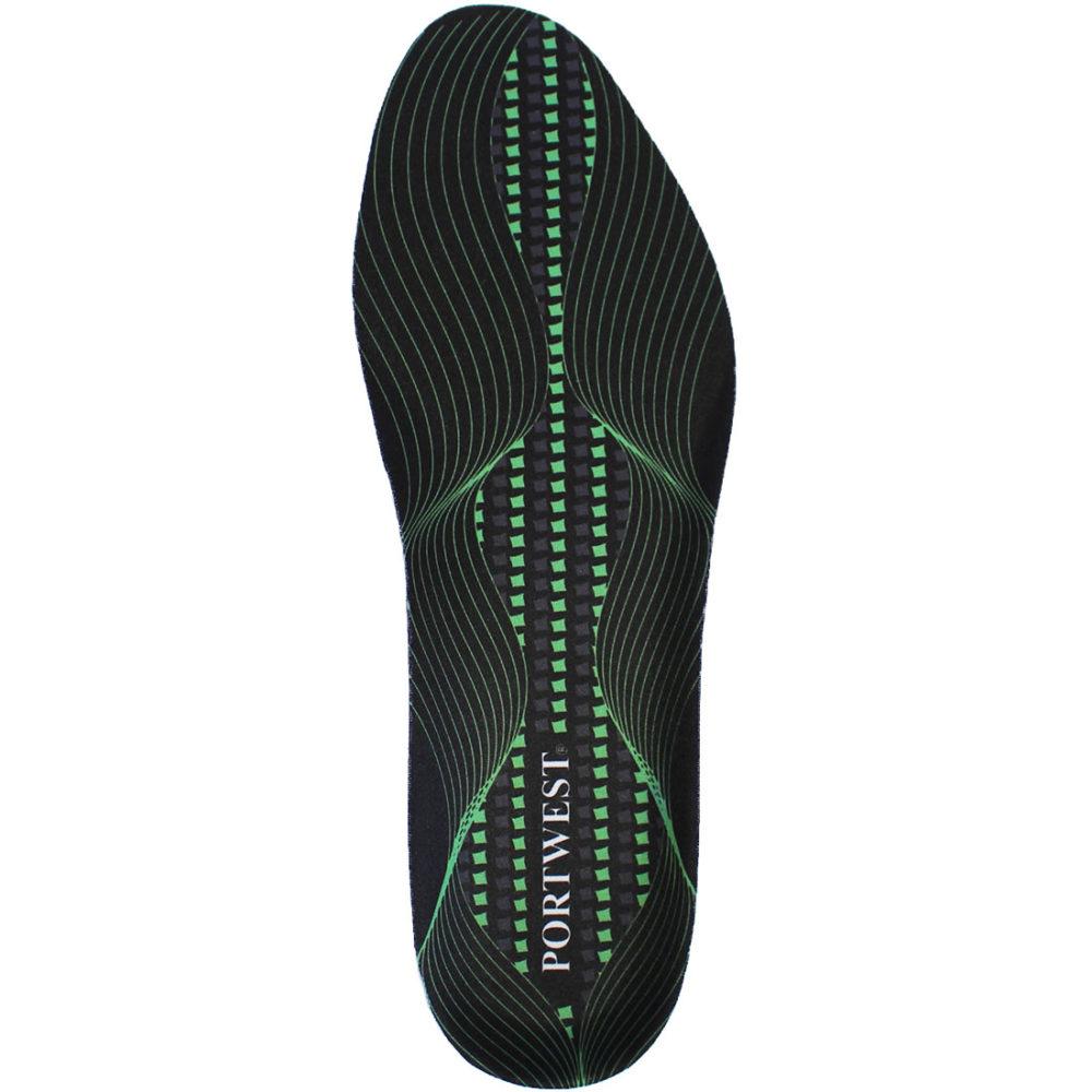 FC82 – Plantilla Gel Cushion & Arch Support  Negro/Verde