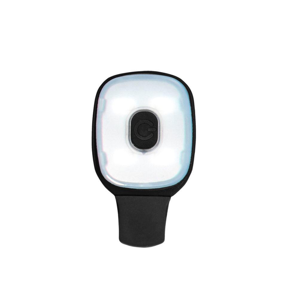 HV12 – Pinza con luz recargable por USB  Negro