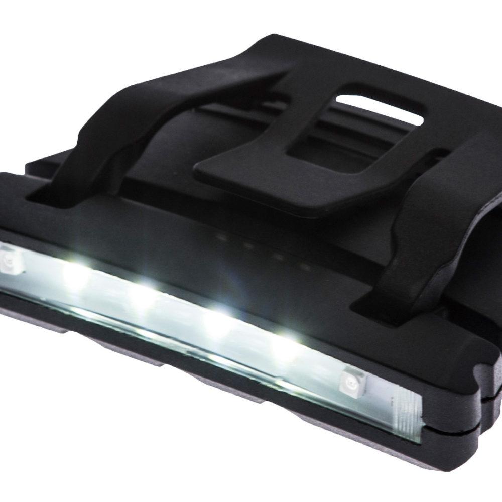PA72 – Linterna LED para gorra  Negro