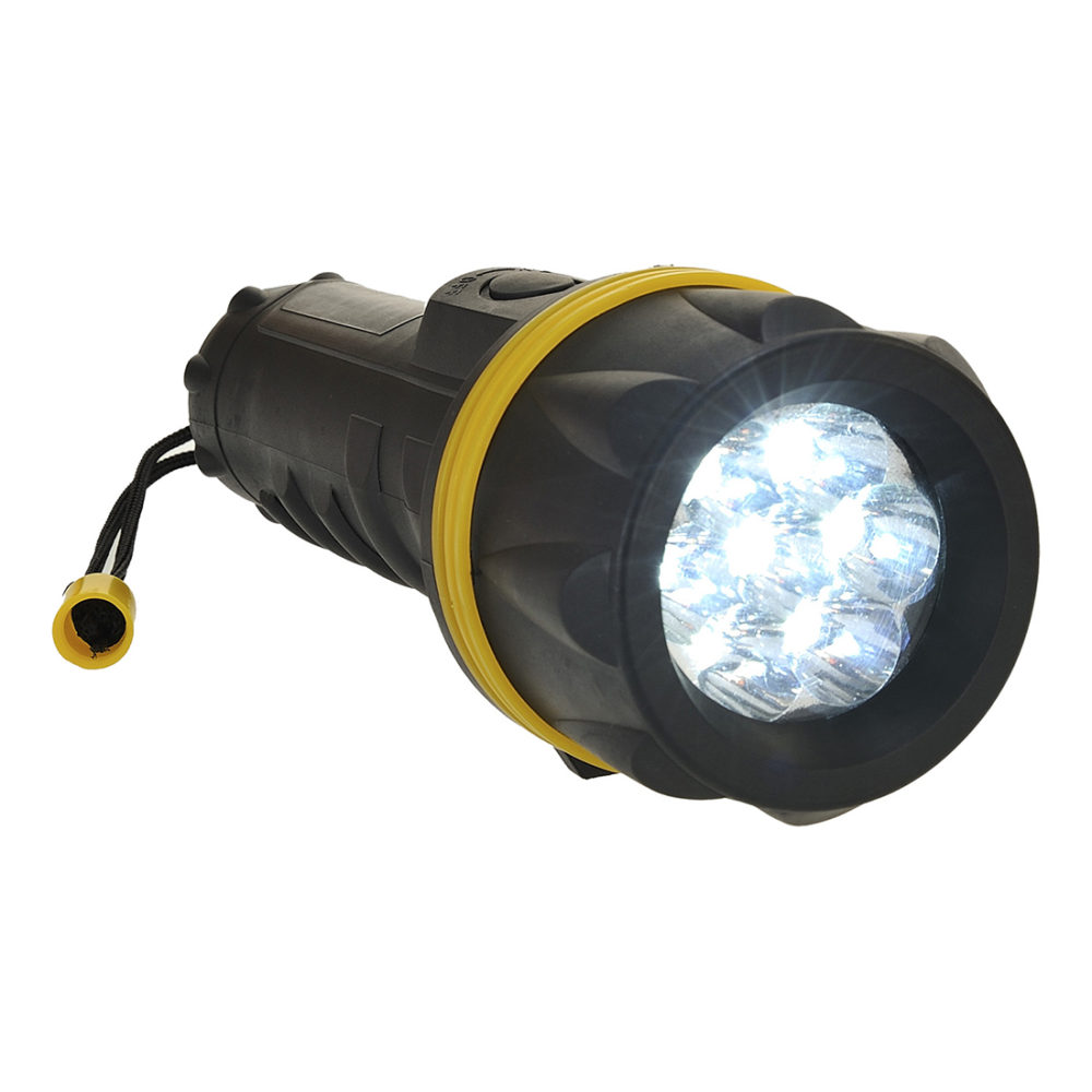 PA60 – Foco de goma de 7 LEDs  Amarillo/Negro