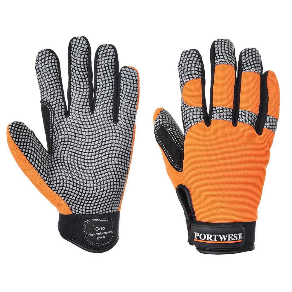A735 – Guante Comfort Grip – Altas prestaciones  Naranja