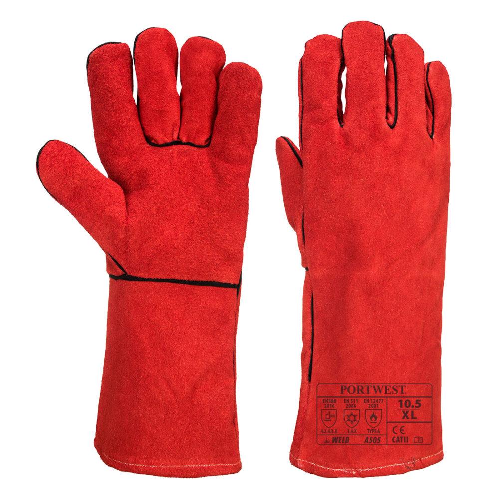 A505 – Guante de soldadura para invierno  Rojo