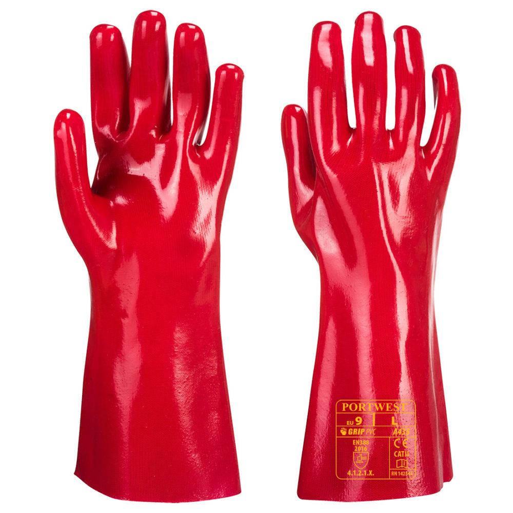 A435 – Guante de PVC  Rojo