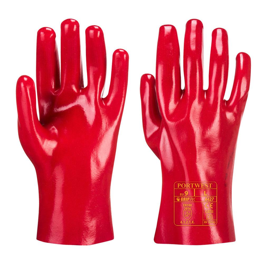 A427 – Guante de PVC  Rojo