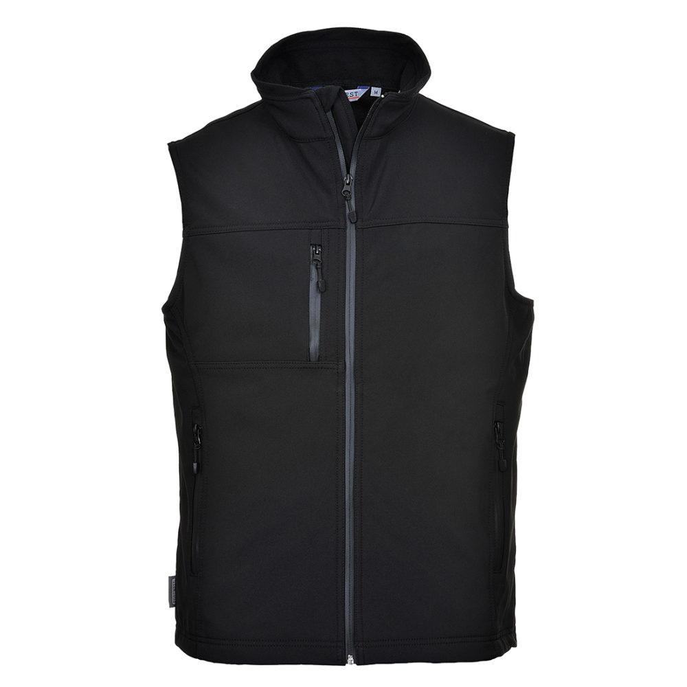 Chaleco de calor Softshell (3 capas)  Negro