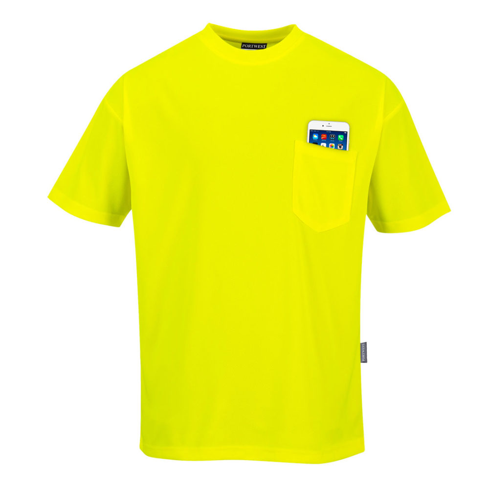 S578 – Camiseta Day-Vis de manga corta con bolsillo