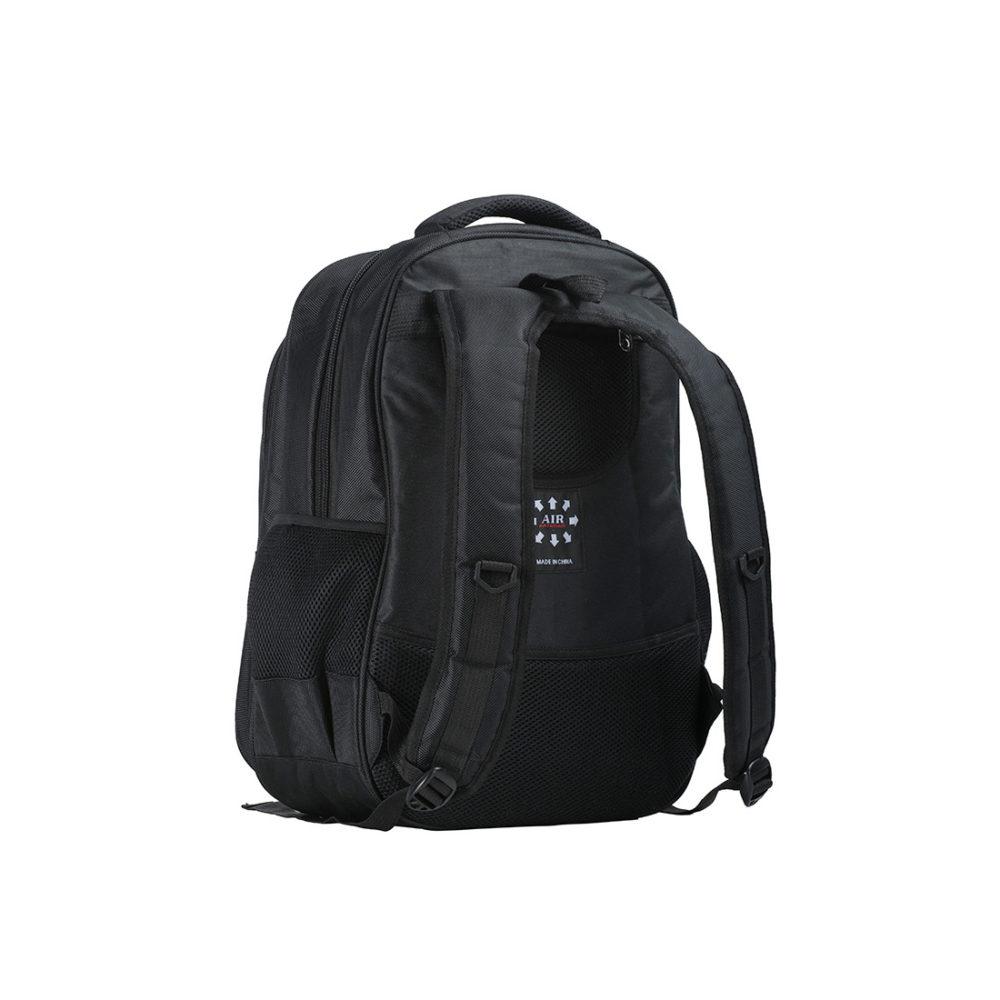 B916 – Mochila con triple bolsillo  Negro