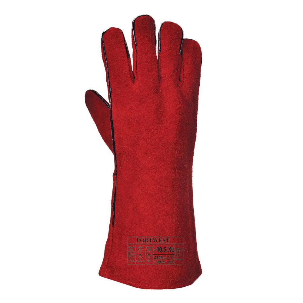 A500 – Guante de soldador  Rojo