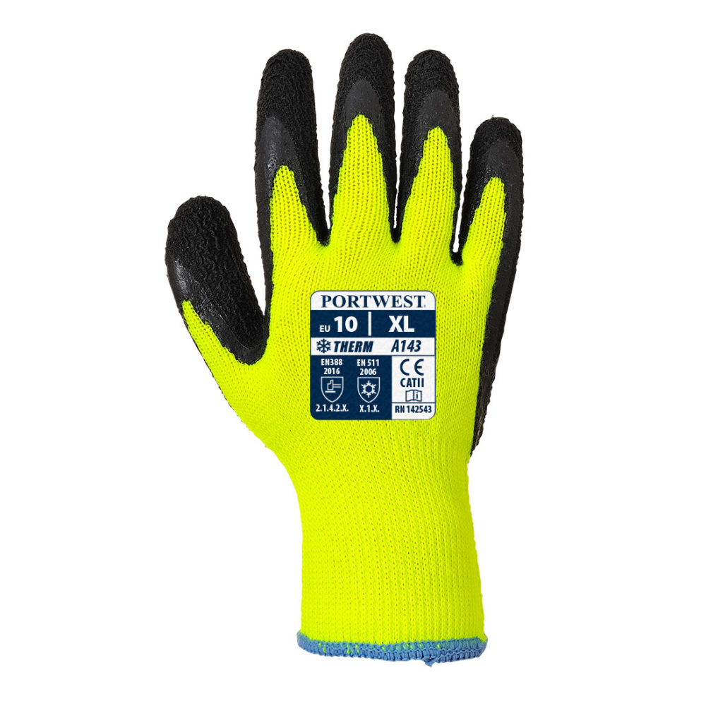 A143 – Guante Thermal Soft Grip  Amarillo/Negro