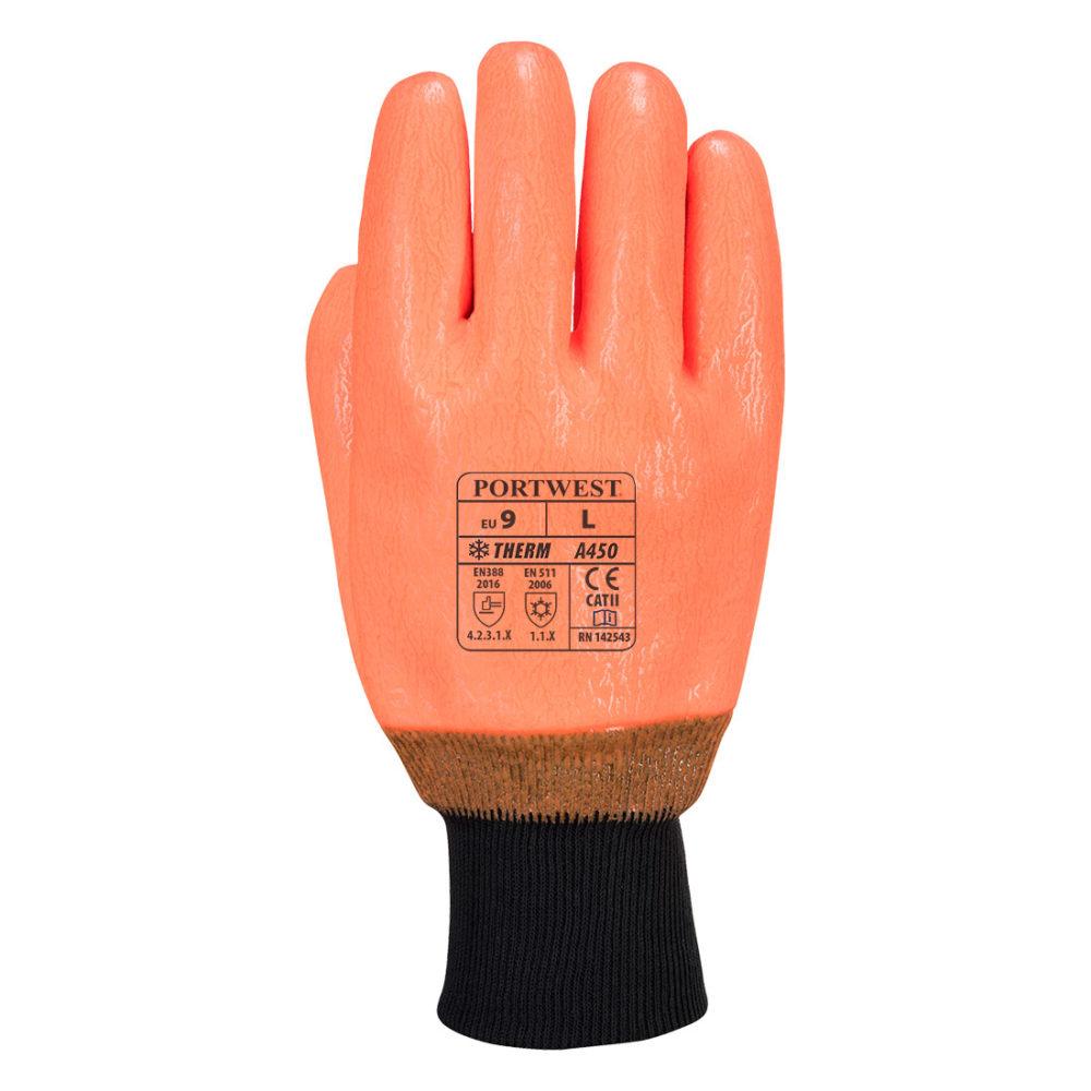 A450 – Guante alta visibilidad impermeable  Naranja