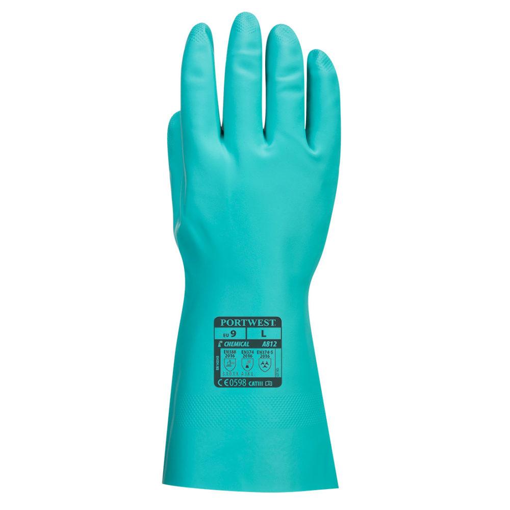 A812 – Guante químico Nitrosafe Plus  Verde