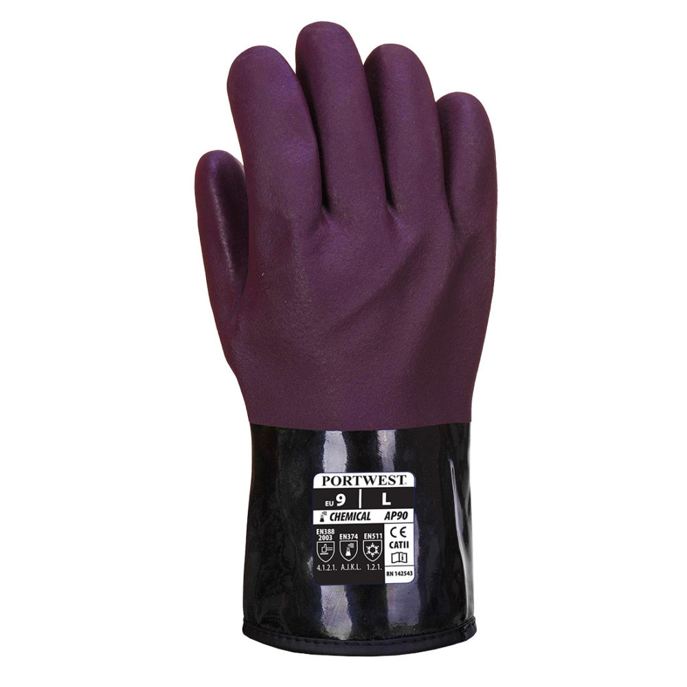 AP90 – Guante Chemtherm Púrpura/Negro