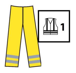 Alta visibilidad clase1 300x287 - Normativa EN 20471 Sobre ropa laboral de alta visibilidad