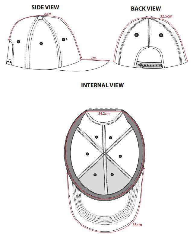 Captura 48 - B010 Gorra baseball de seis paneles