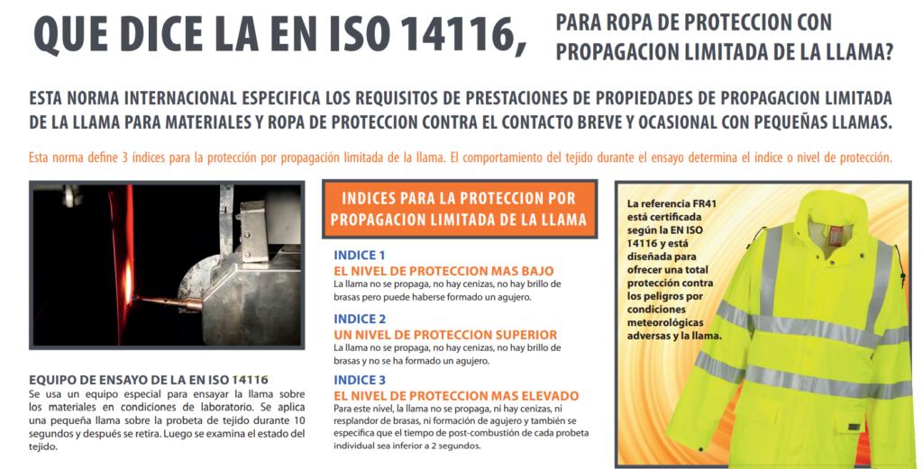 Metodos de prueba de la Norma ISO 14116 1024x521 - Normativa ISO 11612 / ISO 14116 sobre la ropa laboral resistente al fuego