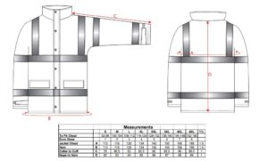 RT63 300x181 - RT63 - Chaqueta transpirable de alta visibilidad Traffic (Interactiva)