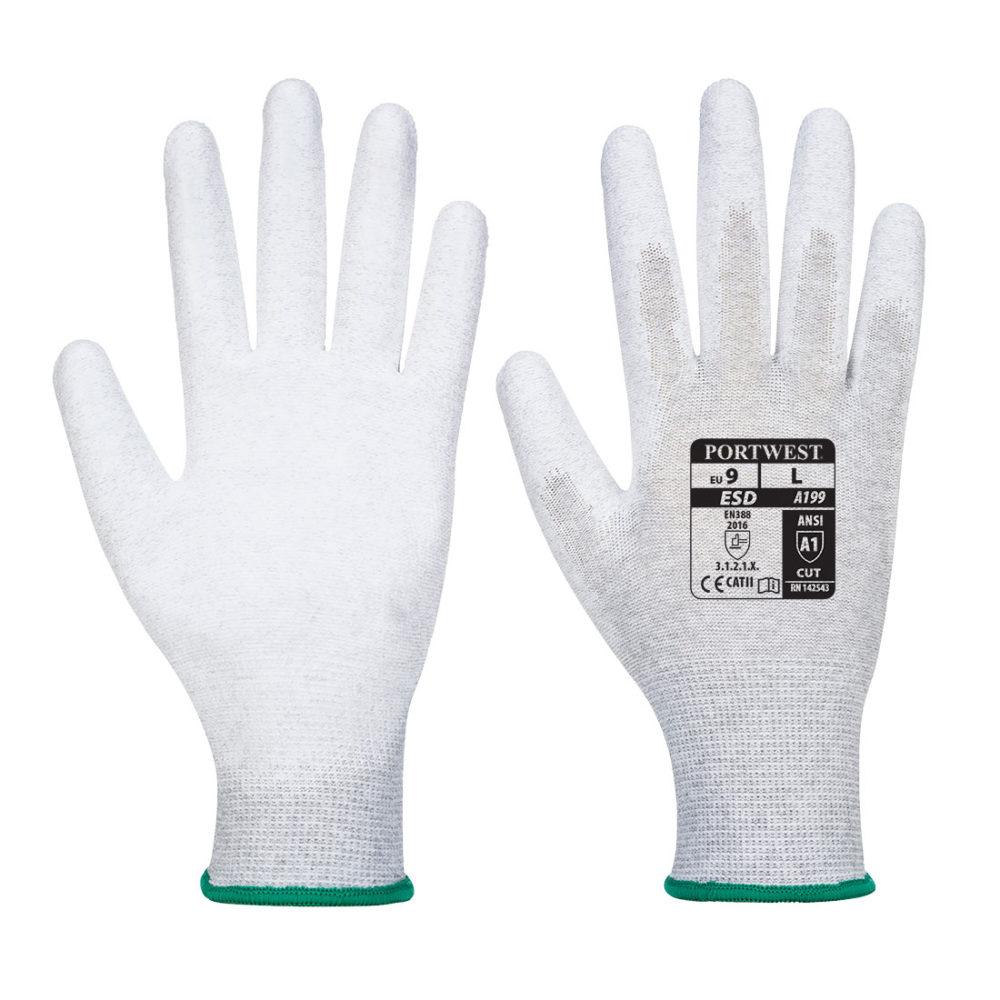 VA199 – Guante antiestático Vending con la palma cubierta con PU Gris