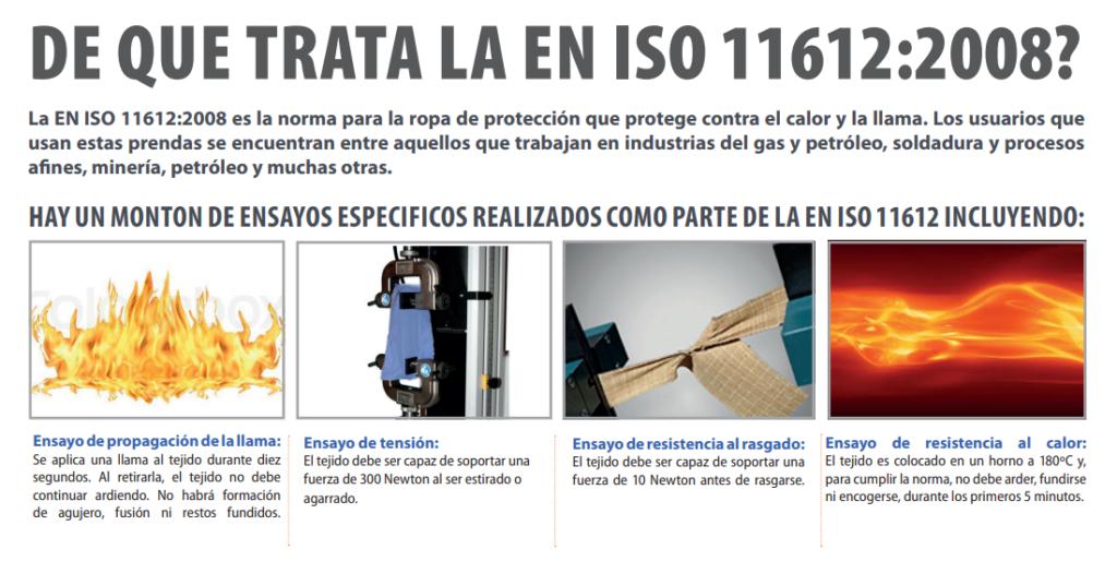 de que trata la en iso 11612 1024x514 - Normativa ISO 11612 / ISO 14116 sobre la ropa laboral resistente al fuego
