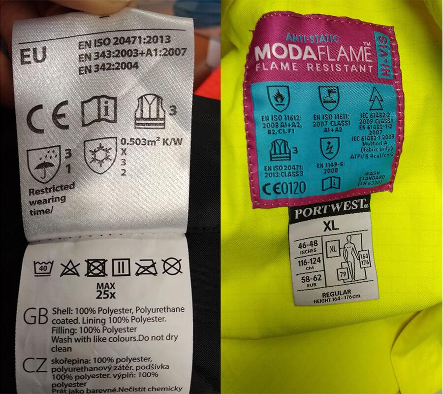 etiquetas de ropa laboral de alta visibilidad 1 - Normativa EN 20471 Sobre ropa laboral de alta visibilidad