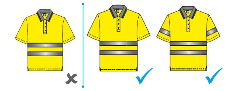 mangas cortas en ropa laboral de alta visibilidad retro reflectante - Normativa EN 20471 Sobre ropa laboral de alta visibilidad