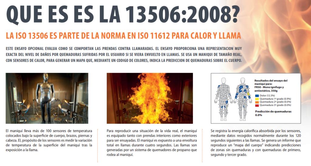 que es la 13506 1024x548 - Normativa ISO 11612 / ISO 14116 sobre la ropa laboral resistente al fuego