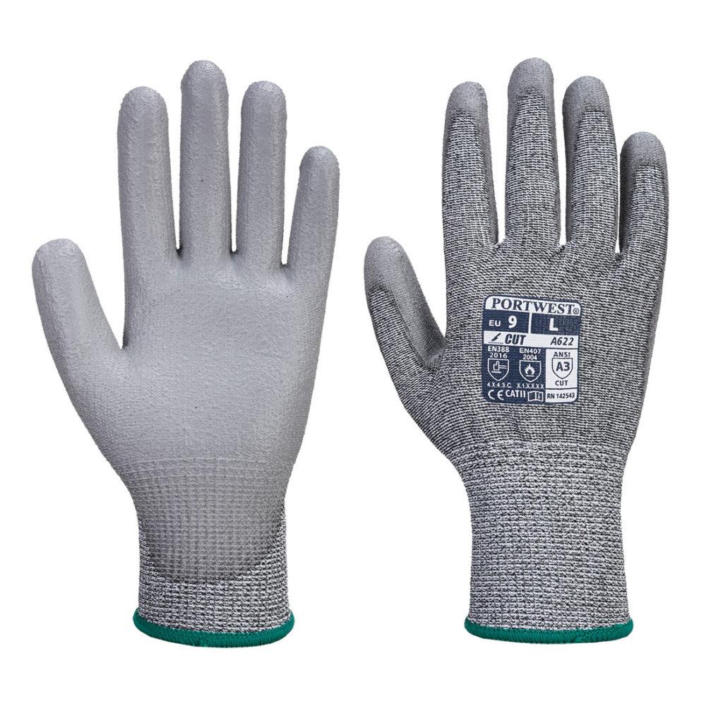 VA622 – Guante Vending anti-corte MR, con la palma cubierta con PU  Gris